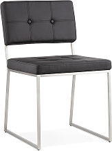 Chaise design capitonnée 'LEON' en