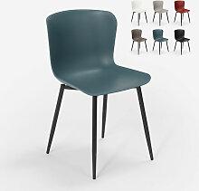 Chaise design moderne en polypropylène et métal