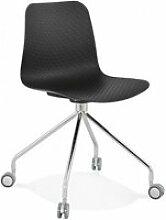 Chaise design rulle kokoon design CH01730BLCH