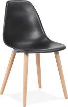 Chaise design scandinave 'GLORIA' noire