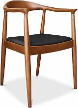 Chaise design scandinave Fridolf - Simili Cuir Noir