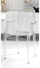 Chaise design transparente avec accoudoirs CIOTAT