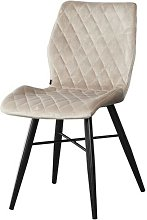 Chaise Dom tissu croisillons taupe - Taupe
