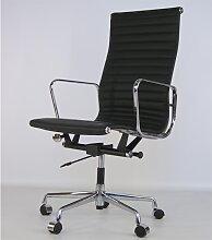 Chaise Eames Alu EA119 - Noir