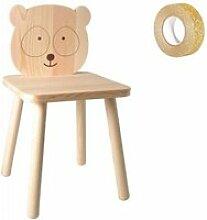 Chaise en bois enfant à peindre 29 x 53 cm petit