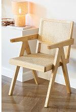Chaise en bois Lali avec accoudoirs Bois Naturel
