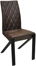 Chaise en cuir GUSTAVO (lot de 2) Matière - Cuir