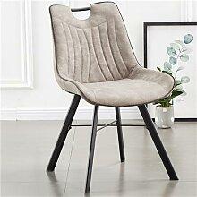 Chaise en tissu gris clair moderne PAQUITO (lot de