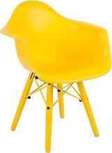 Chaise enfant Eames DAW Color - Jaune