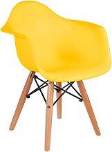 Chaise enfant Eames DAW - Jaune