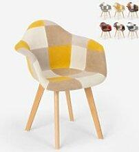 Chaise et fauteuil de cuisine et salon patchwork