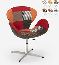 Chaise et fauteuil pivotant de salon style