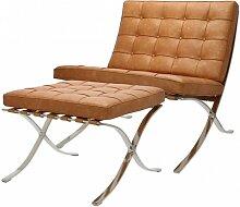 Chaise et ottoman Barcelona - Premium vintage
