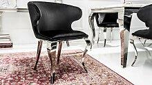 Chaise fauteuil baroque velours noir avec
