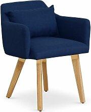 Chaise / Fauteuil scandinave Gybson Tissu Bleu -