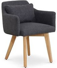 Chaise / Fauteuil scandinave Gybson Tissu Gris