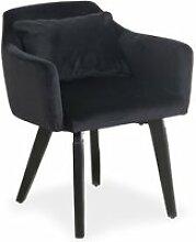 Chaise / fauteuil scandinave gybson velours noir