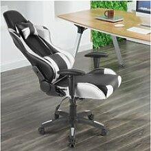 Chaise gaming de bureau fauteuil gamer ergonomique