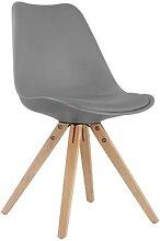 Chaise grise scandinave FIONA (lot de 2)