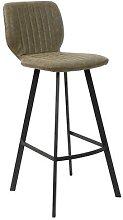 Chaise haute de bar verte moderne OWEN (lot de 2)