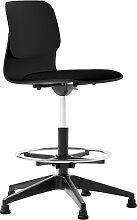 Chaise haute de bureau design noire avec