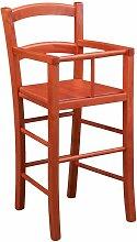 Chaise haute en bois pour table à manger