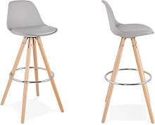Chaise haute grise moderne - Kiara