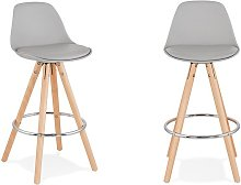 Chaise haute moderne pieds en bois - Kiara Mini