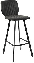 Chaise haute noir moderne OWEN (lot de 2)