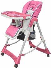 Chaise haute pour bébés Deluxe Rose Hauteur