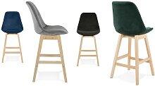 Chaise haute scandinave en tissu - Broome