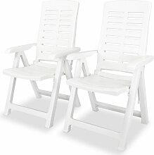 Chaise Inclinable De Jardin Plastique Blanc