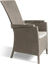 Chaise inclinable de jardin Vermont Cappuccino