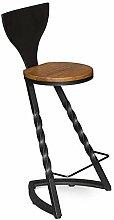 Chaise industrielle Repose-pieds avec dossier rond