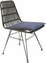 Chaise intérieure extérieure avec galette
