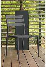 Chaise jardin empilable aluminium anthracite -
