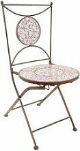 Chaise jardin fer forgé céramique