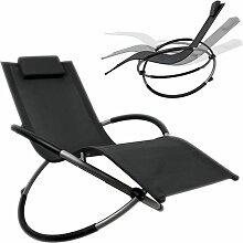 Chaise longue à bascule pliable chaise longue de