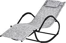 Chaise longue à bascule rocking chair design