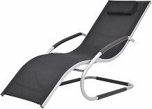 Chaise longue avec oreiller Aluminium et