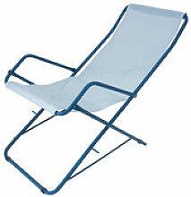 Chaise longue Bahama / Pliable - Emu bleu en
