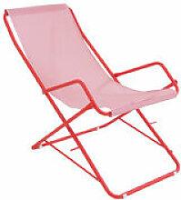 Chaise longue Bahama / Pliable - Emu rouge en
