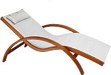 Chaise longue bain de soleil blanc cassé BIARRITZ