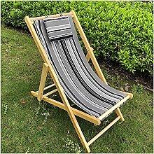 Chaise Longue Chaise Pliante en Bois Chaise