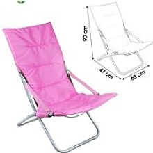 CHAISE LONGUE CHILIENNE ROSE FUSHIA CAMPING PIABLE