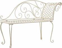 Chaise longue de jardin 128 cm Métal Antique