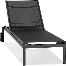 Chaise longue de jardin 'PREMIA' noire -