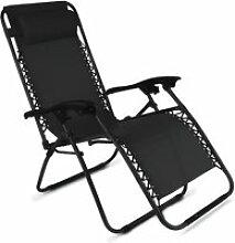 Chaise longue de jardin relax inclinable et