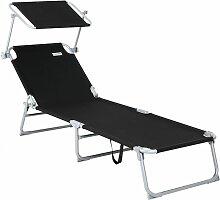 Chaise longue de jardin Transat Pliable