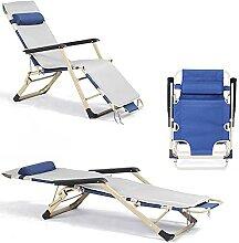 Chaise longue de plage pliable en tissu Oxford